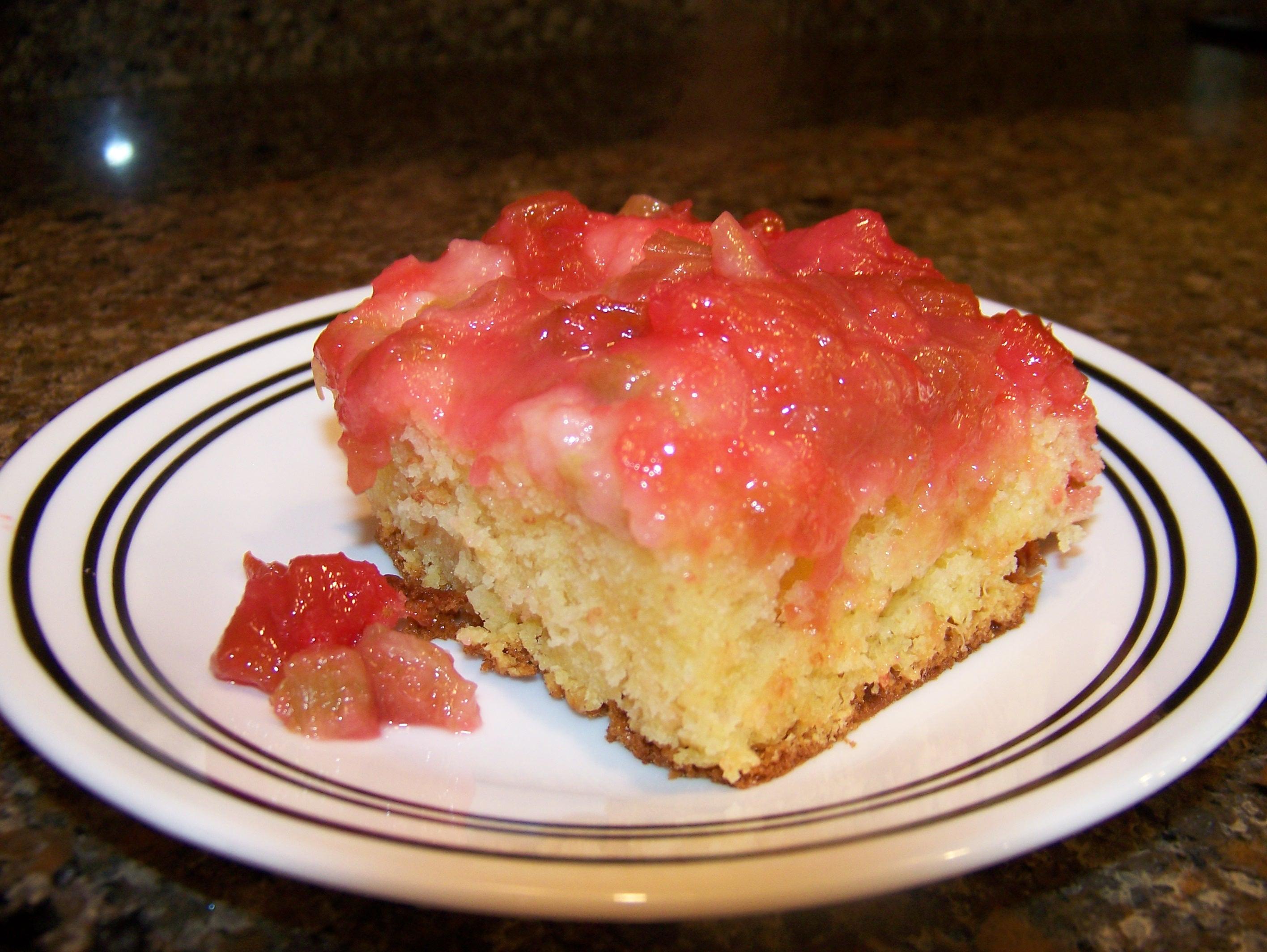 Upside down rhubarb cake recipes