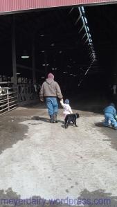 She follows us everywhere on the farm.