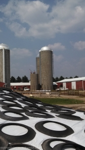 Another view of the first silo being taken down.